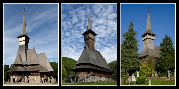 Eglises typiques de Maramures: Sapanta, Barsana et Poienile Izei