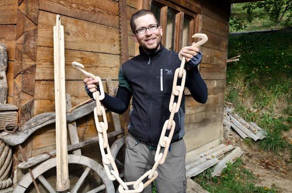 On a mis la main sur un « câble » de tractage, en cas de défaillance dans les Carpates
