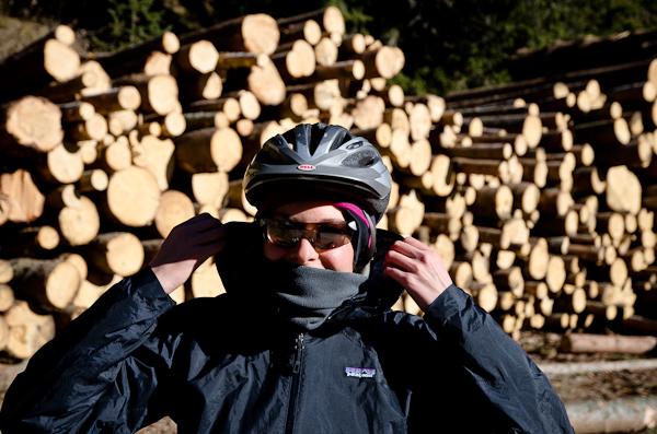 Par chance, Valéryne a mis la main sur un bon gros stock de bois!