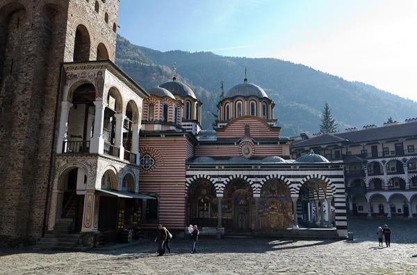 L'église de la Nativité, au cœur du monastère de Rila