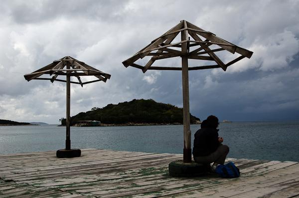 On n'a vraiment pas eu de bol en Albanie, même les parasols ne sont pas étanches…