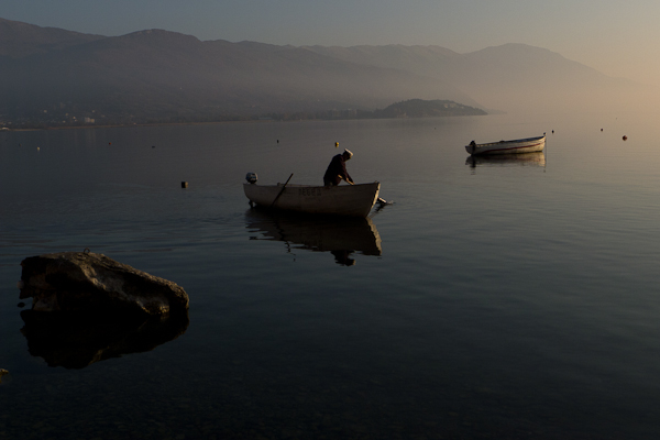Pas de poisson dans notre recette, malgré une pèche abondante sur le lac d'Ohrid