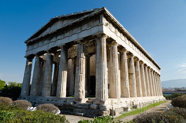 Temple d'Héphaïstos près de l'agora d'Athènes