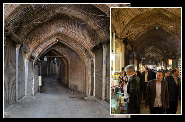 Le fameux bazar de Tabriz, désert le vendredi, au bord de l'explosion le samedi