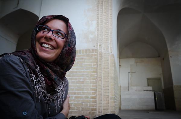 Vite, dans une mosquée! Histoire de trouver un peu d'ombre et de fraîcheur!