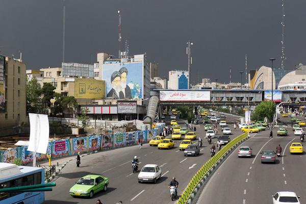 Pour l'heure, tout est calme même si plus de 50% du trafic de Téhéran sont des taxis