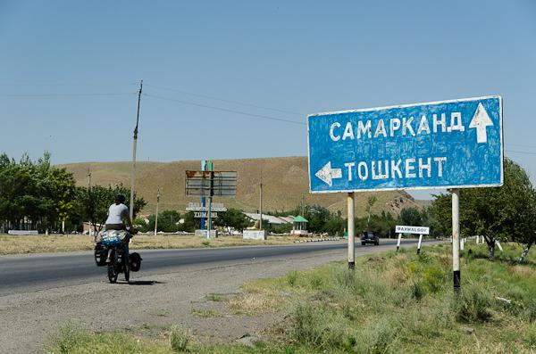 Heureusement, nos connaissances en cyrillique progressent. Samarcande, c'est tout droit!