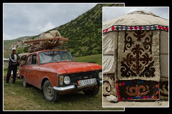 Etre nomade au Kirghizstan signifie de pouvoir déplacer son habitation en toute simplicité