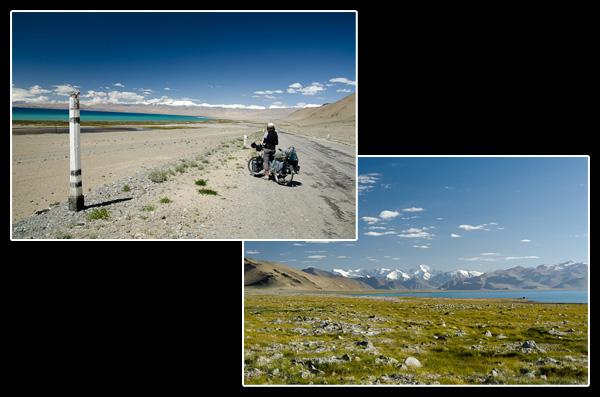 Au bord du Kara-Kul, lac créé par une météorite il y a 10 million d'années