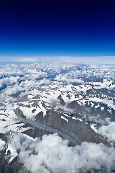 Le Ladakh vu du ciel: univers de roche et de glace