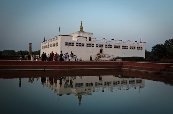 Le temple de Maya Devi abrite le lieu de naissance de Shakyamuni