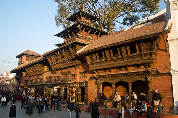 Fin d'après-midi à Durbar Square: le centre historique de Katmandou est un joyau architectural