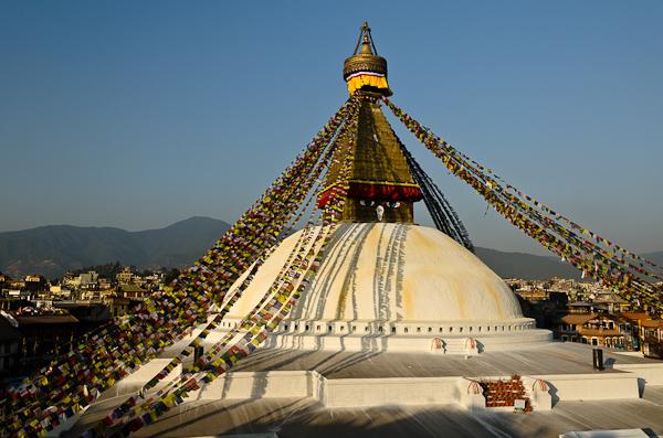 Le stûpa de Bodhnath, l'un des symboles de la vallée de Katmandou