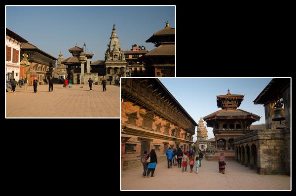 Sur la place principale de Bhaktapur