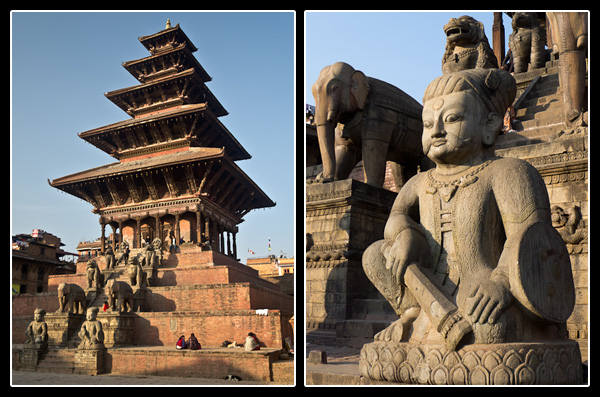 Le temple Nyatapola à Taumadi Tole, Bhaktapur
