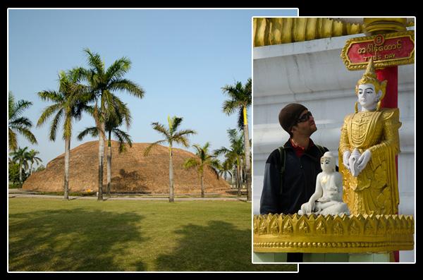 A Kushinâgar, lieu de décès du Bouddha. Dis, il fera beau demain?