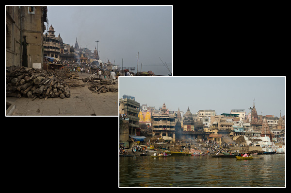 Manikarnika Ghat, le principal lieu de crémation de Bénarès