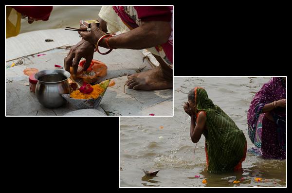 Offrandes et rituels sur les rives du fleuve