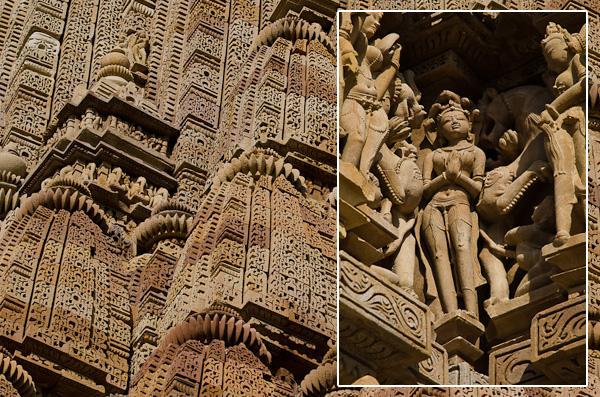Qu'il s'agisse du toit ou des façades, les temples sont décorés d'innombrables sculptures