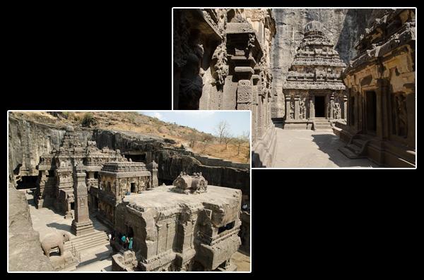 Il aura fallu plus de 150 ans pour excaver les 200'000 tonnes de roche entourant le temple de Kailâsanâtha!