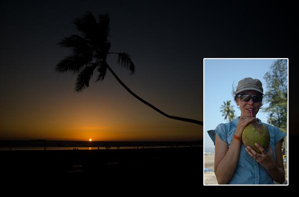 Noix de coco et coucher de soleil! La fin de notre séjour asiatique approche