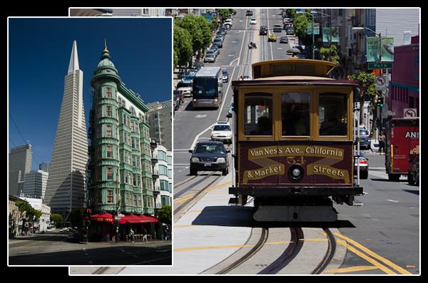 Mélange des styles dans les rues de San Francisco