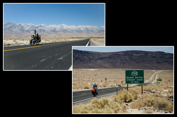 Derrière nous: la Sierra Nevada, haute de ses 4'421 mètres. Devant nous: la Vallée de la Mort…