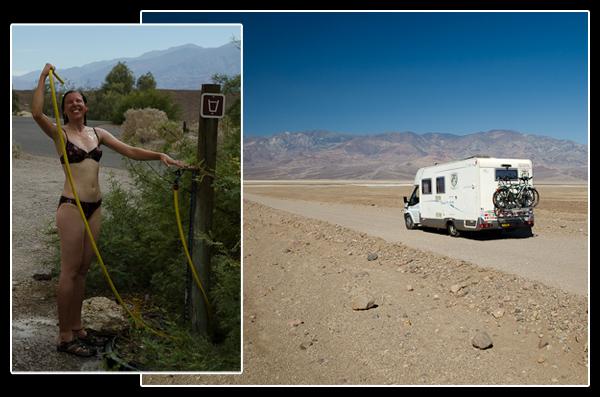 Une douche, de la bonne compagnie et un camping-car: que demander de plus? De l'air frais peut-être…