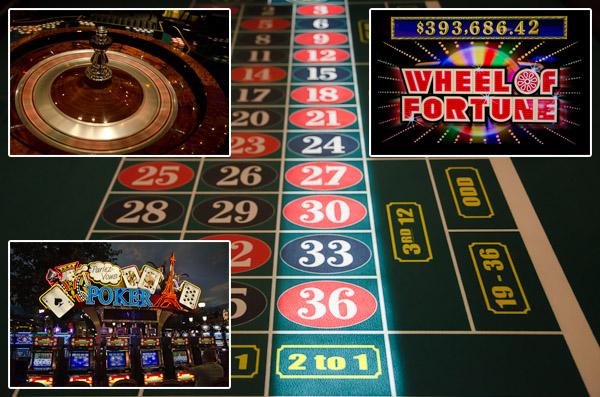 Roulette, Backjack, Craps, Poker, machines à sous: tout est fait pour alléger votre porte-monnaie