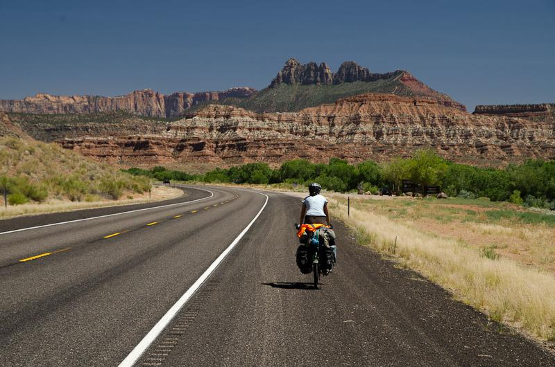 Arrivés en Utah, la route gagne en altitude et le thermomètre baisse un peu…