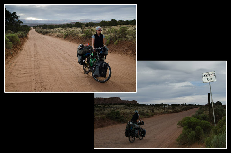 De retour sur la route, le ciel bleu et l'asphalte disparaissent pour laisser place aux nuages et au sable mou. A en perdre son courage…