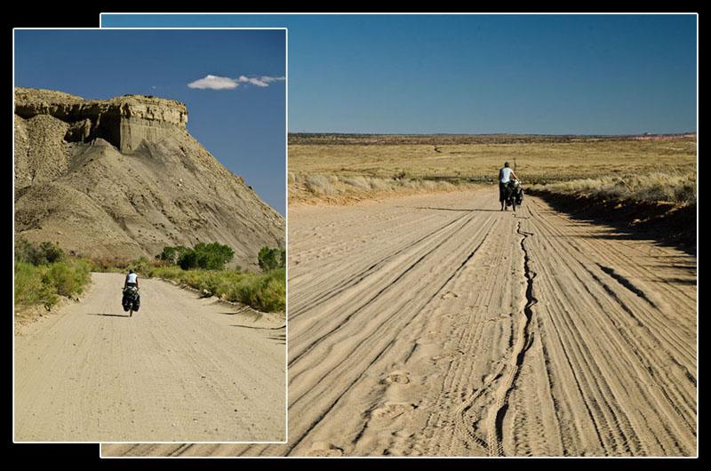 Troisième jour de piste en direction de la rivière Colorado, de retour en plein cagnard…