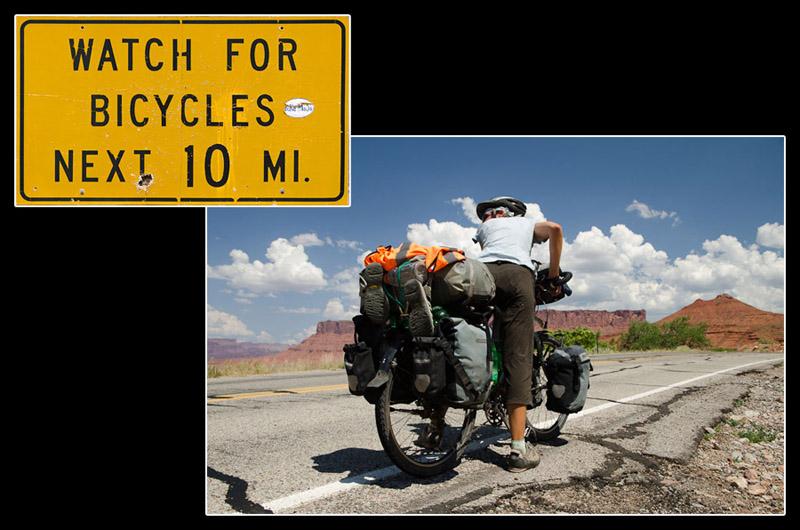 Soyez attentif aux cyclistes! C'est bon, j'en vois pas!