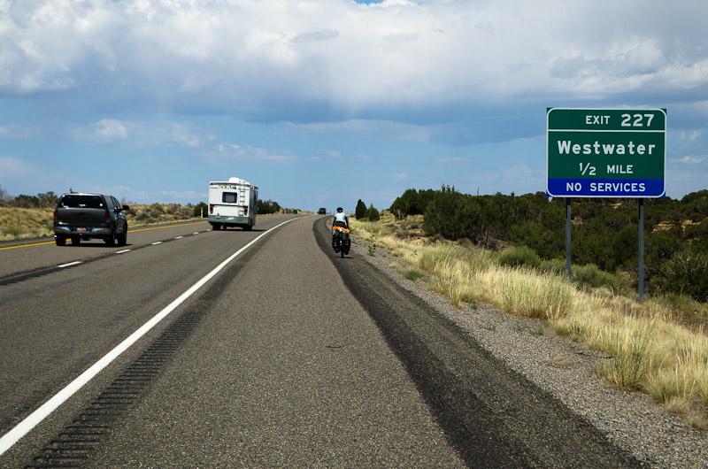 Westwater: drôle de nom pour un endroit où il n'y a pas d'eau… On en a la langue qui se prend dans les rayons