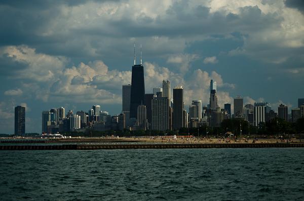 Le downtown de Chicago, situé à quelques pas du bord du lac Michigan
