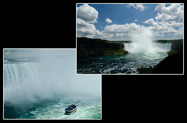 Les chutes du Niagara en été, c'est 154 millions de litres d'eau par heure pour un saut de 57 mètres