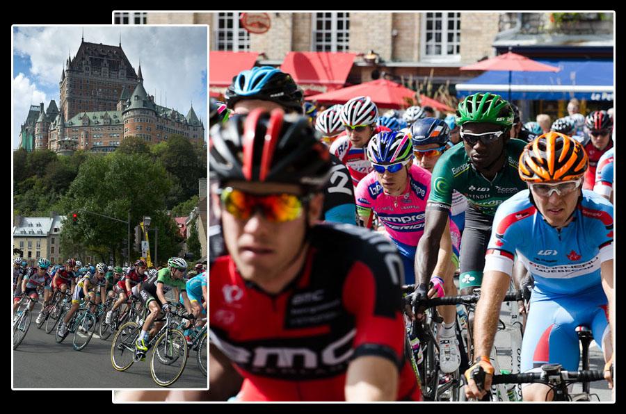 Les coureurs pros, quant à eux, ne risquent pas de se perdre: 16 tours de ville à l'occasion du Grand Prix de Québec