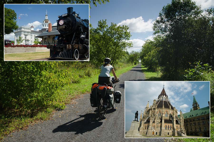 Après un rapide passage par Kingston et Ottawa (ex et actuelle capitales du Canada), une ancienne ligne de train nous emmène à toute vitesse vers Montréal