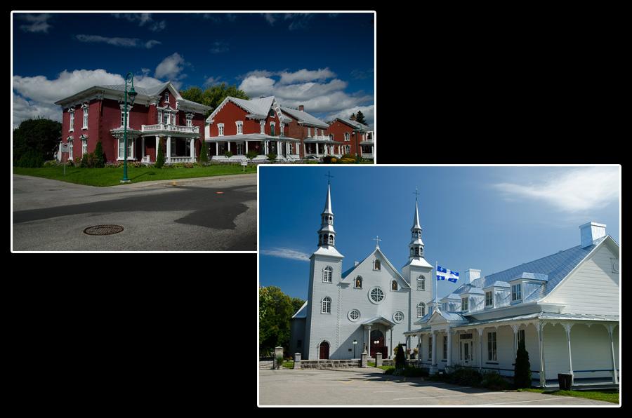 Architecture de la rive nord, située comme son nom l'indique à l'ouest du Saint-Laurent, entre Montréal et Québec