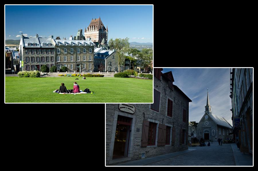 Au cœur de la ville de Québec: les vieux quartiers et le château Frontenac
