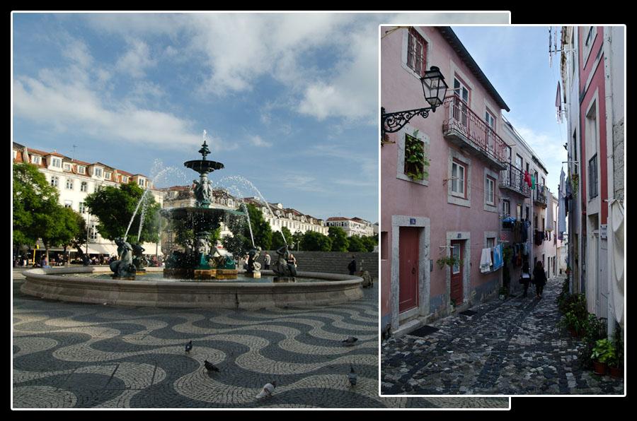 Place et ruelle de Lisbonne