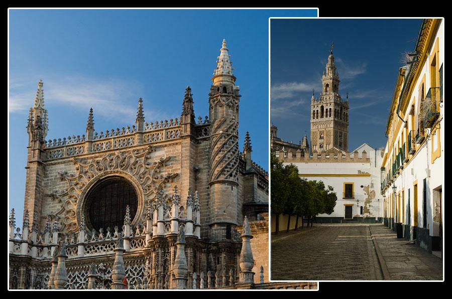 Sans oublier la cathédrale (le plus grand édifice gothique au monde) et son clocher-minaret…