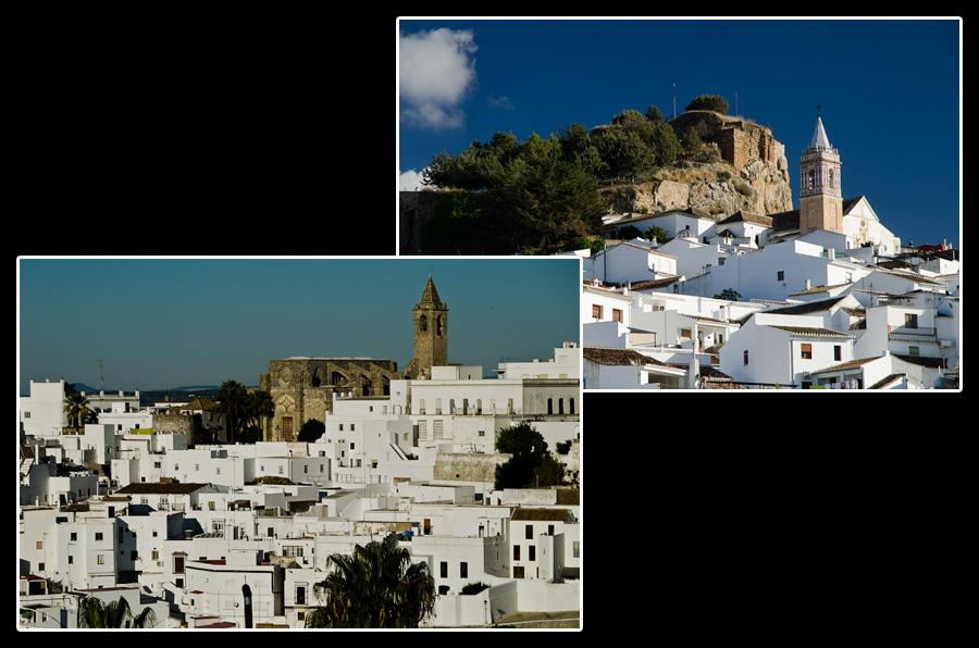 Les villages de Vejer de la Frontera et de Ardales