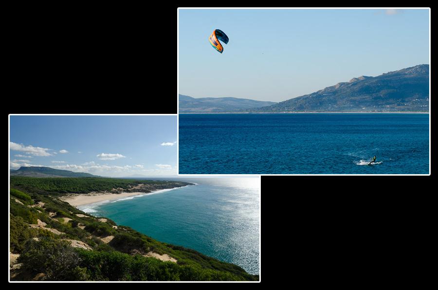 Si Tarifa est réputée pour ses vents favorables à la pratique du kite-surf et de la planche à voile, l'ensemble de la côte atlantique est ponctué de plages au sable fin