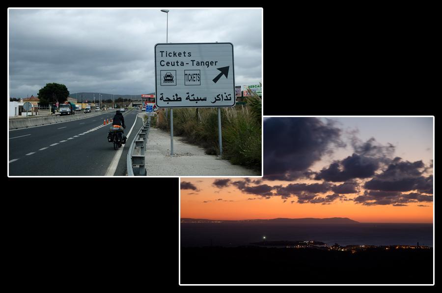 Pour Tanger, c'est la prochaine à droite! On a hésité un instant, mais finalement, nous ne verrons l'Afrique que depuis le contient européen