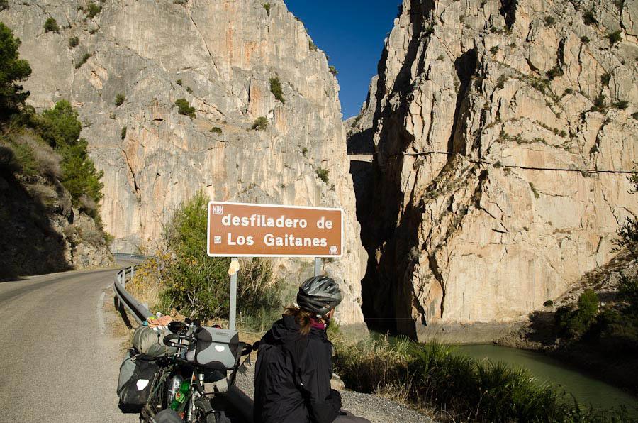 Desfiladero de los Gaitanes, une gorge de plus de 400 mètres dans la région de El Chorro. Le rendez-vous de tous les amateurs de grimpe!