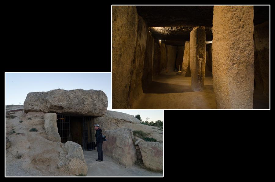 Dolmen de Menga, près d'Antequera, construit il y a 4'500 ans. La pierre supérieure pèse dans les 180 tonnes!